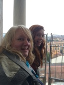 Anna and I got Mom to the top of the leaning tower. She hates heights.